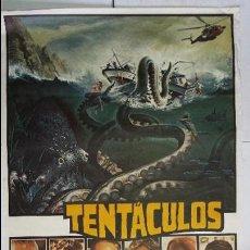 Cine: (2) ANTIGUO Y ORIGINAL CARTEL DE CINE 70 X 100 CM. TENTÁCULOS - 1977. Lote 57636160