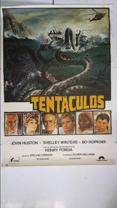 Cine: (2) ANTIGUO Y ORIGINAL CARTEL DE CINE 70 X 100 CM. TENTÁCULOS - 1977 - Foto 2 - 57636160