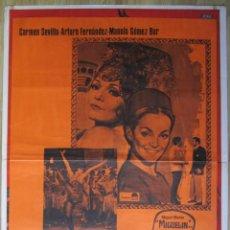 Cine: CARTEL ESPAÑOL DE CINE ''EL RELICARIO'' 1970 (ESPAÑA) CON CARMEN SEVILLA 70X100CM. Lote 57637929