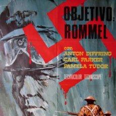 Cinema: CARTEL ESPAÑOL DE CINE ''OBJETIVO: ROMMEL'' 1969 (ITALIA) 70X100CM. Lote 57638179
