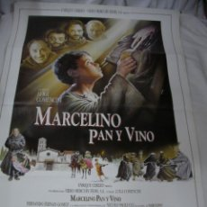 Cine: ANTIGUO POSTER CARTEL DE CINE ORIGINAL - MARCELINO PAN Y VINO. Lote 57644552