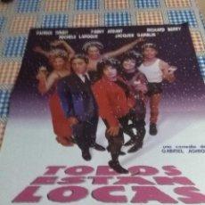 Cine: TODOS ESTAN LOCAS 80,3 X 60 . Lote 57649658