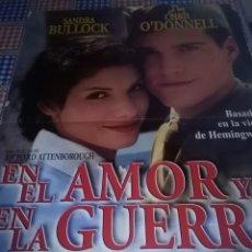 Cine: EN EL AMOR Y EN LA GUERRA 79,8 X 60 DEFECTUOSO. Lote 57651509