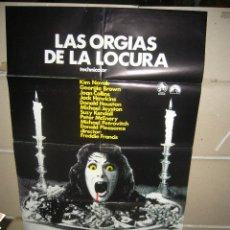 Cine: LAS ORGIAS DE LA LOCURA POSTER ORIGINAL 70X100 Q. Lote 57653764