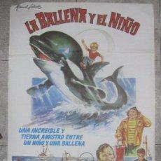 Cine: CARTEL DE CINE. LA BALLENA Y EL NIÑO. 98 X 68 CM. Lote 57657608