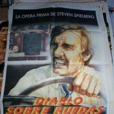 Cine: POSTER ORIGINAL DE 70X100CM EL DIABLO SOBRE RUEDAS OPERA PRIMA DE STEVEN SPIELBERG. Lote 190780276
