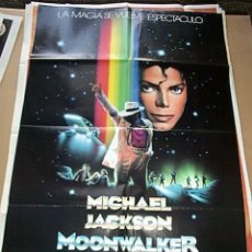 Cine: POSTER ORIGINAL DE 70X100CM MOONWALKER DE MICHAEL JACKSON. Lote 60878559