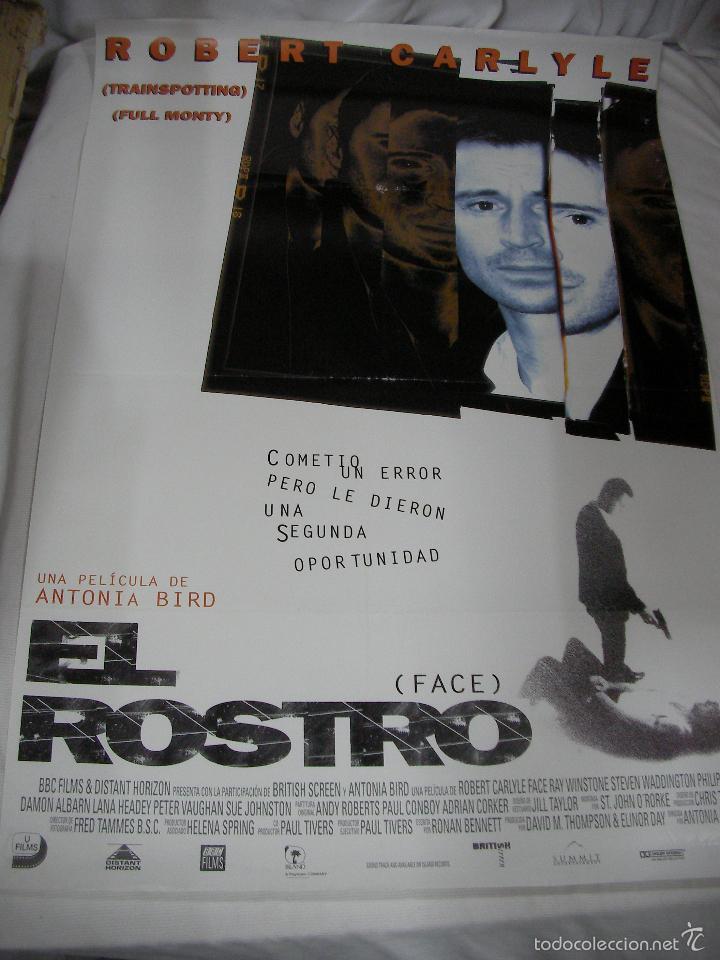 ANTIGUO POSTER CARTEL DE CINE ORIGINAL - EL ROSTRO (Cine - Posters y Carteles - Aventura)