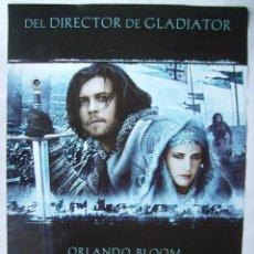Cine: EL REINO DE LOS CIELOS , CON ORLANDO BLOOM. POSTER. 2005. TAMAÑO 68 X 98 CMS.. Lote 206591425