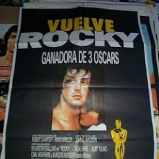 Cine: VUELVE ROCKY 3 OSCARS POSTER ORIGINAL. Lote 190587315