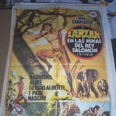 Cine: POSTER ORIGINAL DE CINE 70X100CM TARZÁN EN LAS MINAS DEL REY SALOMÓN. Lote 57687669