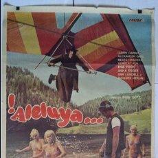 Cine: ANTIGUO Y ORIGINAL CARTEL DE CINE 70 X 100 CM. ALELUYA...CADA UNO CON LA SUYA - 1979. Lote 57715561