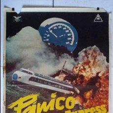 Cine: ANTIGUO Y ORIGINAL CARTEL DE CINE 70 X 100 CM. PÁNICO EN EL TOKIO EXPRESS - 1977. Lote 57716292