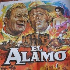 Cinéma: CARTEL DE CINE: EL ALAMO; JOHN WAYNE. Lote 57719492