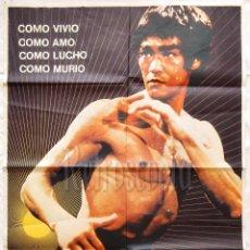 Cine: CARTEL POSTER ORIGINAL *BRUCE LEE LA LEYENDA DEL DRAGÓN* 1977. Lote 57733934