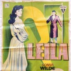 Cine: CARTEL POSTER ORIGINAL *LEILA* SONYA WILDE JAMES FRANCISCUS 1960 (LLOAN). Lote 57734184