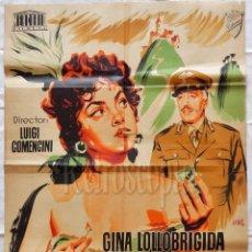 Cine: CARTEL POSTER ORIGINAL *PAN, AMOR Y CELOS* GINA LOLLOBRIGIDA VITTORIO DE SICA LUIGI COMENCINI (JANO). Lote 57735919