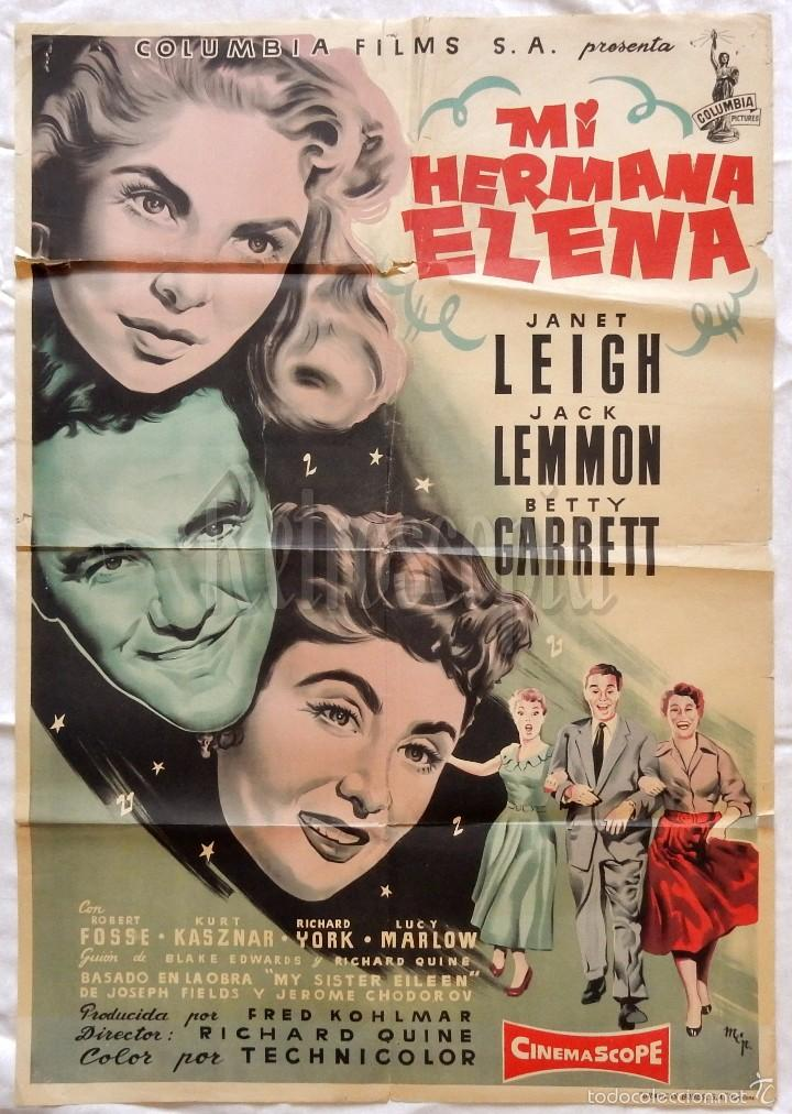 CARTEL POSTER ORIGINAL *MI HERMANA ELENA* JANET LEIGH JACK LEMMON BETTY GARRET (MCP) (Cine - Posters y Carteles - Musicales)