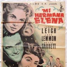 Cine: CARTEL POSTER ORIGINAL *MI HERMANA ELENA* JANET LEIGH JACK LEMMON BETTY GARRET (MCP). Lote 57736283