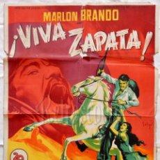 Cinema - CARTEL POSTER ORIGINAL *¡VIVA ZAPATA!* MARLON BRANDO ANTHONY QUINN. ELIA KAZAN (SOLIGÓ) - 57736904