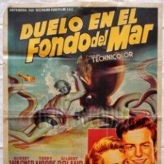 Cine: CARTEL POSTER ORIGINAL *DUELO EN EL FONDO DEL MAR* ROBERT WAGNER TERRY MOORE (SOLIGÓ). Lote 57737411