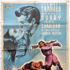 Cine: CARTEL POSTER ORIGINAL *NORTE SALVAJE* STEWART GRANGER WENDELL COREY CYD CHARISSE . Lote 57737601