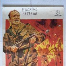 Cine: ANTIGUO Y ORIGINAL CARTEL DE CINE 70 X 100 CM. COMANDOS - 1968 . Lote 57737688