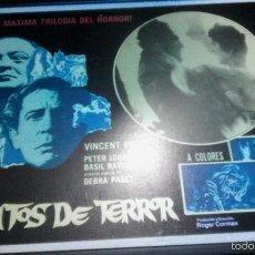 Cine: CUENTOS DE TERROR. ROGER CORMAN. CARTEL DE CINE MIF MEXICO INTERNACIONAL FILMS S.A.. Lote 57757679