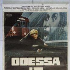 Cine: ANTIGUO Y ORIGINAL CARTEL DE CINE 70 X 100 CM. ODESSA - 1975. Lote 57796519