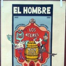 Cine: CARTEL POSTER CINE CUBANO, CUBA , EL HOMBRE AGRADECIDO ,SERIGRAFIA ,ORIGINAL , AAC. Lote 57835440