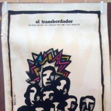 Cine: CARTEL POSTER CINE CUBANO, CUBA , EL TRANBORDADOR , BACHS 1974 ,SERIGRAFIA ,ORIGINAL , BBC. Lote 57837800