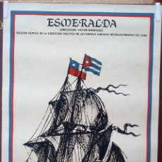 Cine: CARTEL POSTER CINE CUBANO, CUBA , ESMERALDA , BARCO , REVOLUCION CUBANA ,SERIGRAFIA ,ORIGINAL , BBC. Lote 57838306