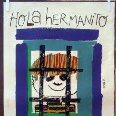 Cine: CARTEL POSTER CINE CUBANO, HOLA HERMANITO , HUNGRIA ,CUBA ,SERIGRAFIA ,ORIGINAL , CCC. Lote 57851357