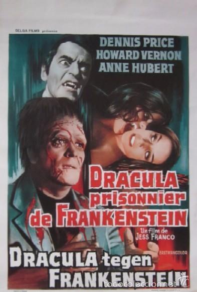 DRACULA PRISIONNIER DE FRANKESTEIN (Cine - Posters y Carteles - Terror)
