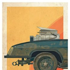 Cine: MAD MAX (COCHE PARTE FRONTAL). LÁMINA CARTEL 45 X 32 CMS.. Lote 151630138