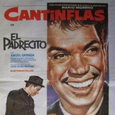 Cine: CARTEL CINE ESPAÑOL ''CANTINFLAS · EL PADRECITO'' 1964 (MEXICO) 70X100CM. Lote 58007515