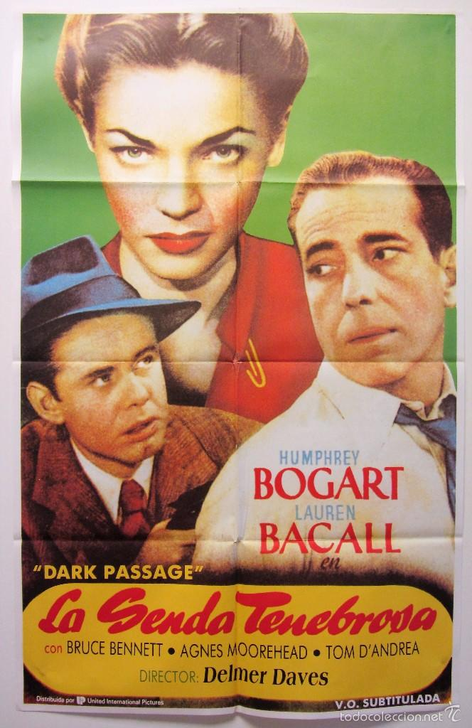 LA SENDA TENEBROSA VINTAGE ORIGINAL MOVIE POSTER (1947) 70X100 CARTEL DE CINE ORIGINAL (Cine - Posters y Carteles - Suspense)