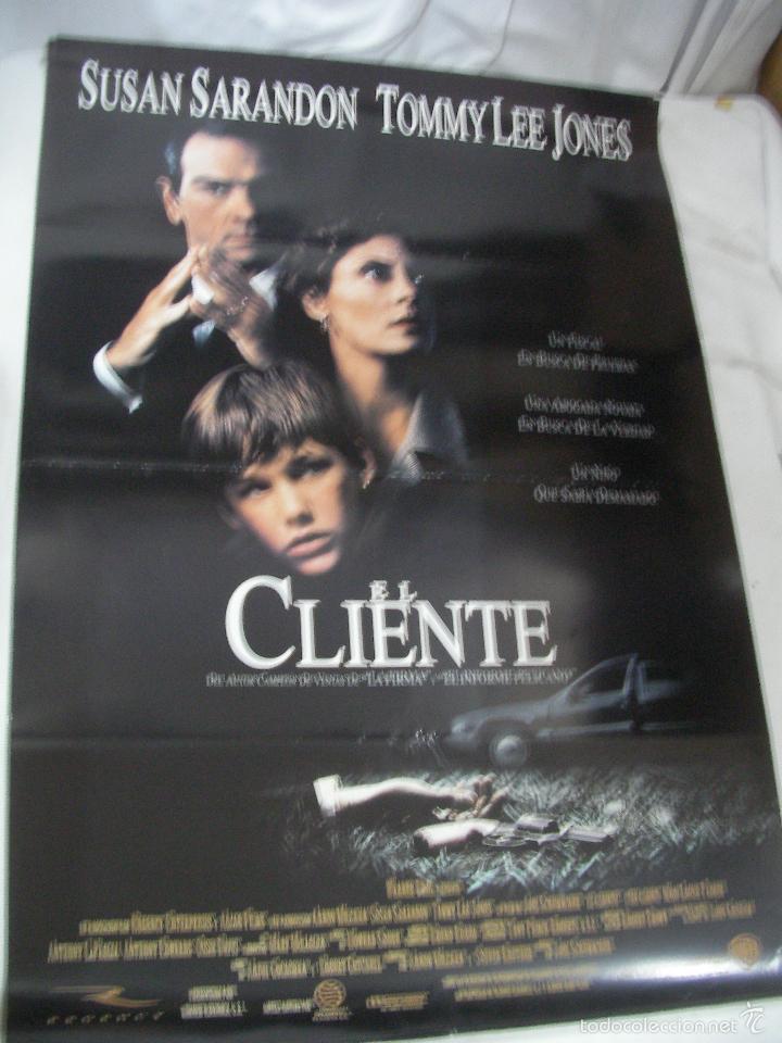 ANTIGUO POSTER CARTEL DE CINE ORIGINAL - EL CLIENTE (Cine - Posters y Carteles - Aventura)