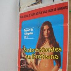 Cine: SOBRESALIENTE EN EROTISMO // CARTEL ORIGINAL ESPAÑOL DE 1981 // EROTICA SEXY NUDE SCHOOLGIRL REPORT. Lote 58129290