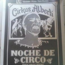 Cine: CARTEL - NOCHE DE CIRCO , DE INGMAR BERGMAN .. Lote 128509468