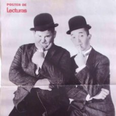Cinéma: POSTER STAN LAUREL Y OLIVER HARDY LECTURAS. Lote 58185043