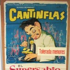 Cine: EL SUPERSABIO-CANTINFLAS 1963 CARTEL ORIGINAL-ORIGINAL FILM POSTER. Lote 58211031