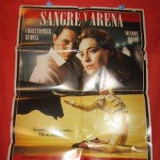 Cine: CINE - SANGRE Y ARENA SHARON STONE 1989 CARTEL AFICHE ORIGINAL 100 X 70 CM + 7 CARTELERAS VER FOTOS. Lote 58267997