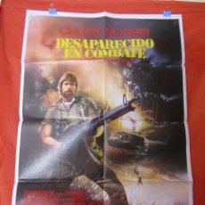 Cine: CINE - DESAPARECIDO EN COMBATE - CHUCK NORRIS - AÑO 1985 - CARTEL AFICHE ORIGINAL100 X 70 CM. Lote 58268641