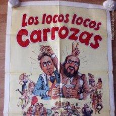 Cine: LOS LOCOS LOCOS CARROZAS - APROX 70X100 CARTEL ORIGINAL CINE (L30). Lote 58285286