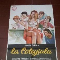 Cine: CARTEL DE CINE - LA COLEGIALA - CON GLORIA GUIDA - AÑO 1977. Lote 58420962