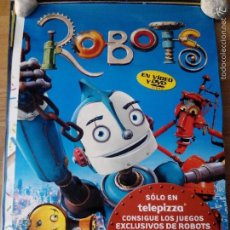 Cine: ROBOTS - APROX 70X100 CARTEL ORIGINAL VDCLUB (V1). Lote 58455172