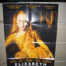 Cine: ELIZABETH POSTER ORIGINAL 70X100 YY(1336). Lote 58479449