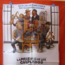 Cine: CINE - LA PRISION DE LOS CHIFLADOS 1985 CARTEL AFICHE ORIGINAL100 X 70 CM + 12 CARTELERAS ORIGINALES. Lote 58486194