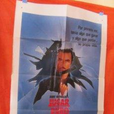 Cine: CINE - JUGAR DURO (1985) - BURT REYNOLDS - CARTEL AFICHE ORIGINAL100 X 70 CM. Lote 58506307
